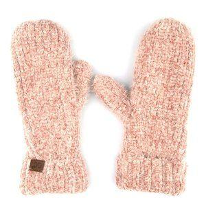 C.C Chenille Classy Fuzzy Lining Mitten Glove